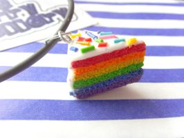 Rainbow Layer Cake Necklace 2 by tyney123