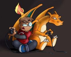 Another Pokemon battle by drakered