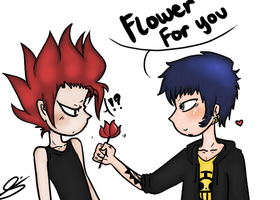 Flower for you, Eustass-ya. by eagle-eyes