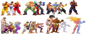 Street Fighter III Team Battle by True-BackLash