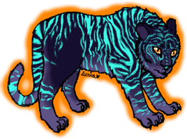 First attempt Tiger for Panda by beany123