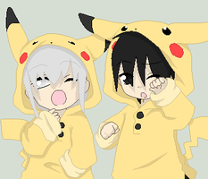 Pikachu twins of Yin and Yang by ArdeOnodera101