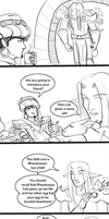 Meeting of Wrathion and Rhea's last child by hclark