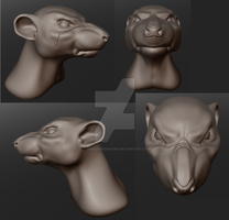 Quin the Were-Rat Sculptris by TheGoldenChicken