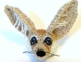 Fennec Fox Crochet WIP by Windowsillcharms