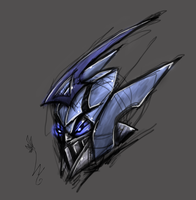 Blurr movie head sketch by LyricaBelachium