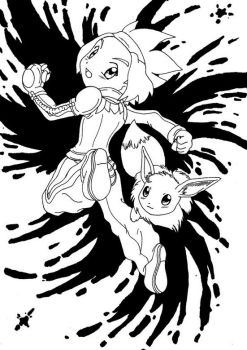 cover of XD-Doujinsh outline by Pichu-Chan