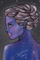 Sparkling drow by FoxFireRed