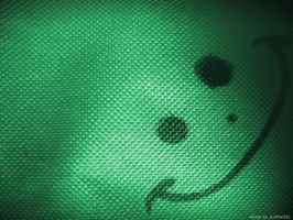 Smiley Wallpaper- Green by JustMe255