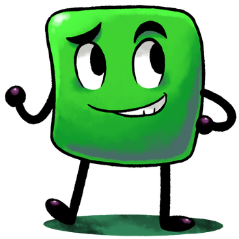[MM] ''M+L'' RPG Style: The Green Square [OC] by Master-Rainbow