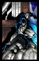 Batman on Gargoyle colored 2 by TorruellasArts