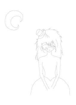 on a moonlit night initial lineart by GothicPrincess0134