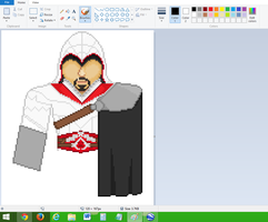 Ezio(Assasin's Creed)- WIP 4 by TicklePixel