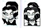 Angry Faerie sketch cards by Bbedlam