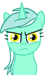 Lyra is not amused by paper-pony