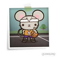 Matty the Sporty Mouse by SquidPig