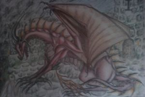 Red dragon dark by Kayleigh-Kaz