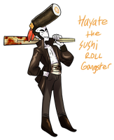 Hayate The Sushi Roll Gangster by Ask-The-OC-Factory
