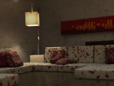 interior render by divanawesome