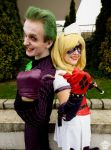 Harley Quinn (Arkham Asylum) and Joker 2 by ThePuddins