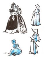 Ren Faire brush doodles 2013 by The-Pirate-Fox
