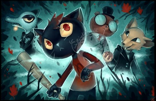 DA night in the woods by WalkingMelonsAAA