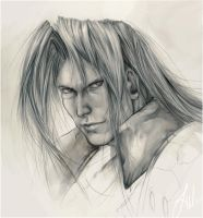 Sephiroth_sketch by LindseyWArt