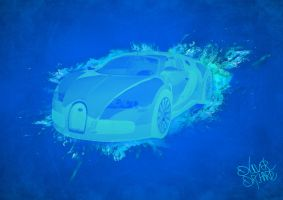 Blue Flame Veyron by Revilonew