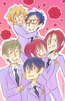 Iwatobi HighSchool Host Club by LissyFishy