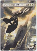 Avacyn, Angel of Hope - MtG Alter by closetvictorian