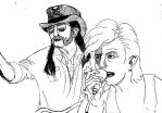 Lemmy and Bowie by SpacePope13