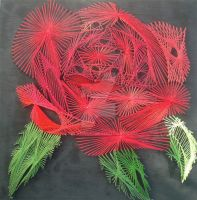 String Art 'Rose' by CuriousG30RGE