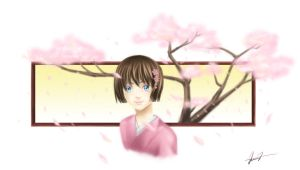 Cherry blossoms by shikami