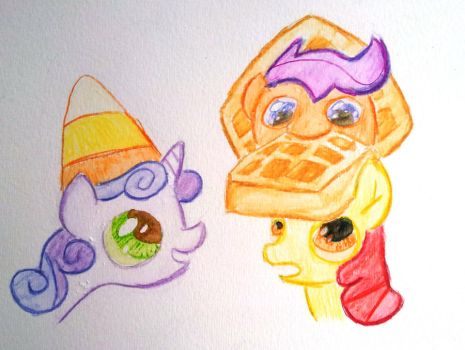Waffle and Candy Corn Hats by shoeunit
