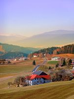 Country road in amazing panorama by patrickjobst