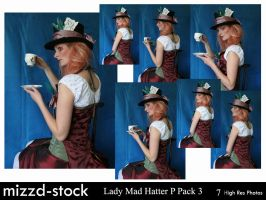 Lady Mad Hatter Portrait Pack3 by mizzd-stock