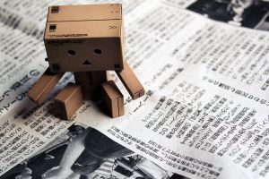 Danbo and the Newspaper by AlexanderPompa
