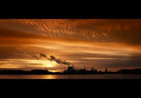 Sunset Paper Mill by wchild