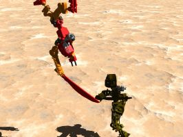 Bionicle Fight by Kennysorel