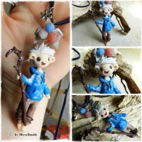Jack Frost from Rise of the Guardians necklace by oOMetalbrideOo