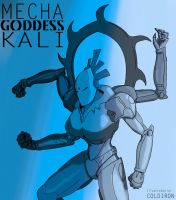 Mecha Goddess Kali by OffensiveTheory