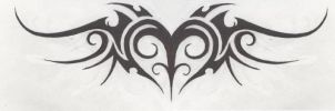 Tattoo-Tribal Heart by HollowMinded