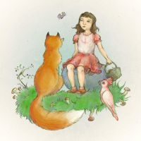 Lilia and animals by Gogolle
