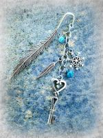 Frost Feather Bookmark by ArtByStarlaMoore