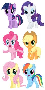 My Little Pony Sets 1-3 by cosplayscramble