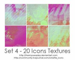 Set 4 - 20 icons textures by hermyweasley