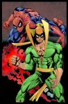 Iron Fist And Spidey by Sat Ivy color/flats by me by jbellcomic