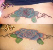 Rose tattoo touch up by NeoGzus