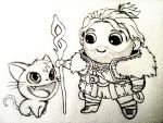 Chibi Anders, Cat Lover by T3hAnubis