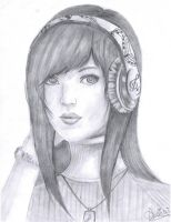 Girl With Headphones by mangafox23